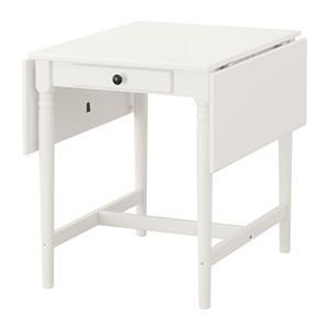میز چوبی سفید تاشو INGATORP